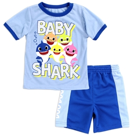 Wholesale BABY SHARK Boys Toddler 2-Piece Short Set
