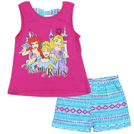 Wholesale PRINCESS Girls 4-6X 2PC Short Set