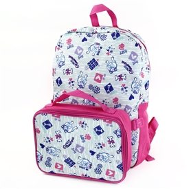 "Wholesale CONFETTI 16"" Backpack W/ Lunch Kit"
