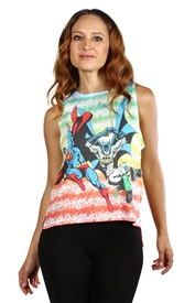 Wholesale JUSTICE LEAGUE Junior Ladies Fashion Tank Top