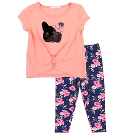 Wholesale SUNSET SKY Girls 4-6X 2PC Legging Set
