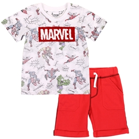 Wholesale MARVEL Boys Toddler 2PC Short Set