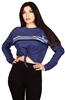 Wholesale STITCH Juniors Tie Crop Sweatshirt