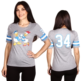Wholesale DONALD/DAISY Juniors Front/Back Print Hockey T-shirt