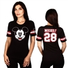 Wholesale MICKEY MOUSE Juniors Front/Back Print Hockey T-shirt