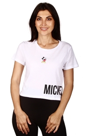 Wholesale MICKEY MOUSE Junior Crop Top/T-shirt