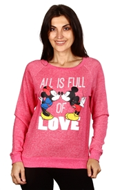 Wholesale MICKEY/MINNIE Juniors Fashion Sweatshirt