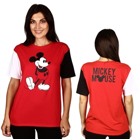 Wholesale MICKEY MOUSE Juniors Front/Back Print T-shirt