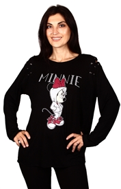 Wholesale MINNIE MOUSE Juniors Plus L/S Top