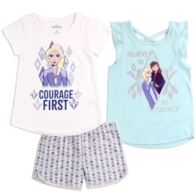 Wholesale FROZEN Girls 4-6X 3-Piece Short Set