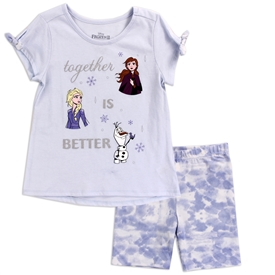 Wholesale FROZEN Girls 4-6X 2-Piece Short Set