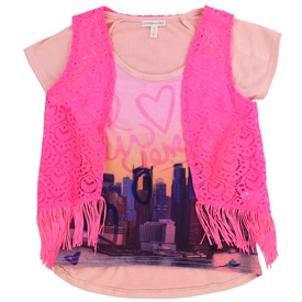 Wholesale LOVE @ FIRST SIGHT Girls 4-6X 2-Piece Fashion Top