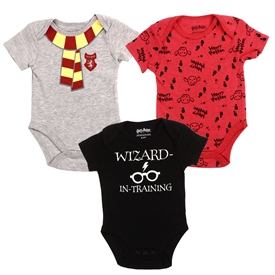 Wholesale HARRY POTTER Boys Newborn 3-Pack Creepers