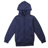 Wholesale Boys Basic Lightweight Fleece Zip Hoodie