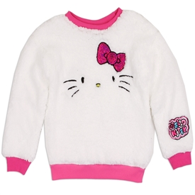Wholesale HELLO KITTY Girls 4-6X Sherpa Sweatshirt