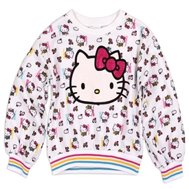Wholesale HELLO KITTY Girls 4-6X Fleece Sweatshirt