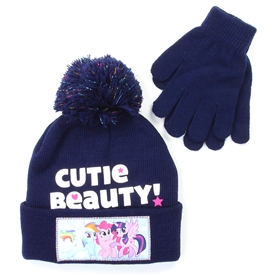 Wholesale MY LITTLE PONY Girls Winter Hat & Gloves Set
