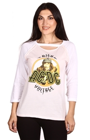 Wholesale AC/DC Juniors 3/4 Sleeve Top