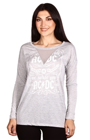 Wholesale AC/DC Juniors Long Sleeve Top