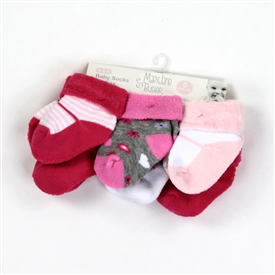 Wholesale MARY JANE & BUSTER Girls 0-6M Socks