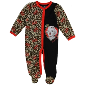 Wholesale MARILYN MONROE Girls Newborn Footed Sleeper
