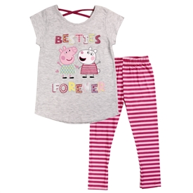 Wholesale PEPPA PIG Girls Toddler 2PC Legging Set