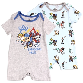 Wholesale PAW PATROL Boys Infant 2-Pack Rompers