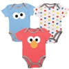 Wholesale SESAME STREET Boys Newborn 3-Pack Creepers