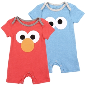 Wholesale SESAME STREET Boys Newborn 2-Pack Rompers