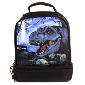 "Wholesale STARPAK 9"" Drop Bottom Lunch Bag - Jurassic"