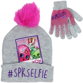 Wholesale SHOPKINS Girls Winter Hat & Gloves Set