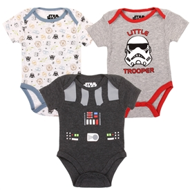 Wholesale STAR WARS Boys Newborn 3-Pack Creepers