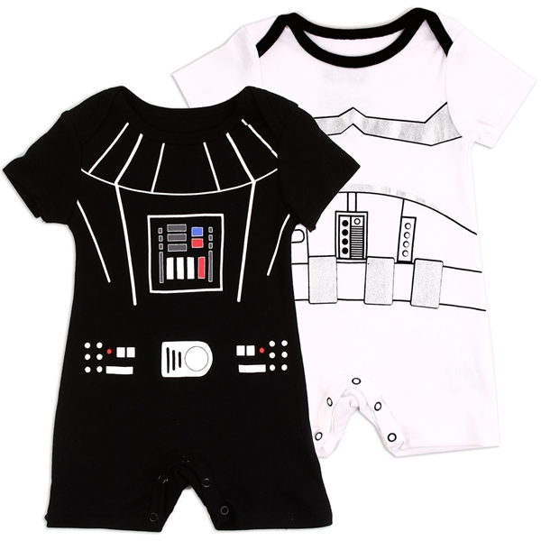 Wholesale STAR WARS  Boys Newborn 2-Pack Rompers