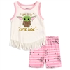 Wholesale BABY YODA Girls Toddler 2-Piece Short Set