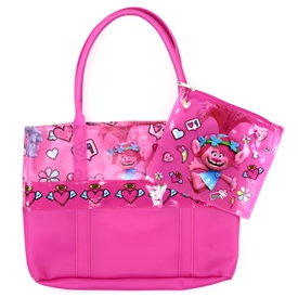 "Wholesale TROLLS Large 16"" Tote w/ Wet Bag"
