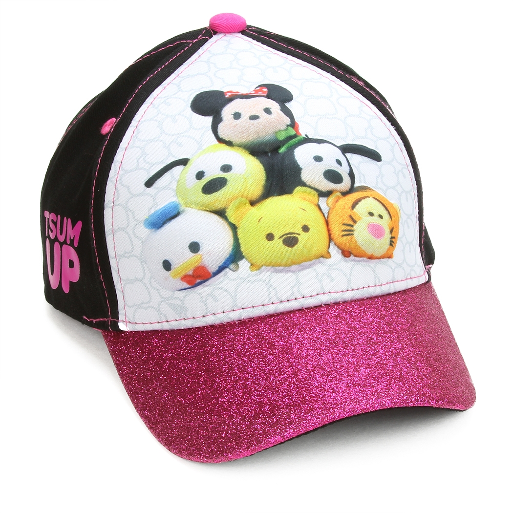 newest 9b757 85df5 usa disney little girls tsum tsum assorted characters 3d pop baseball cap  black pink white age 4 7 256c9 4e38f  sale wholesale tsum tsum girls 3d pop  cap ...