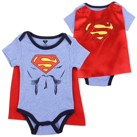 Wholesale SUPERMAN Boys Newborn Creeper W/ Cape