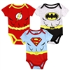 Wholesale JUSTICE LEAGUE Boys Newborn 3-Pack Creepers
