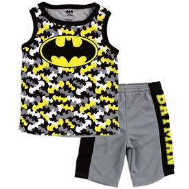 Wholesale BATMAN Boys 4-7 2-Piece Short Set