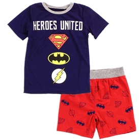 Wholesale JUSTICE LEAGUE Boys Toddler 2-Piece Short Set