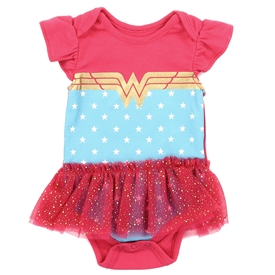 Wholesale WONDER WOMAN Girls Newborn Tutu Creeper