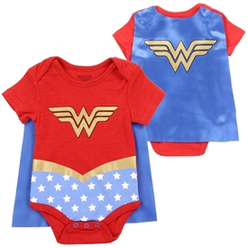 Wholesale WONDER WOMAN Girls Newborn Creeper W/ Cape