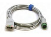 Mindray ECG trunk cable: 3-lead, Pediatric/Neonatal, 12 Pin, ESU-Proof, AHA/IEC 0010-30-42724
