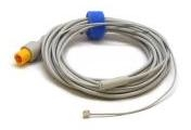 Mindray MR404B Reusable Temperature Probe, Pediatric/Neonatal, Skin, 2 Pin 011-30-37395