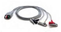 "Mindray 3 Lead Mobility ECG Pinch Clip Lead Wires (36"")"
