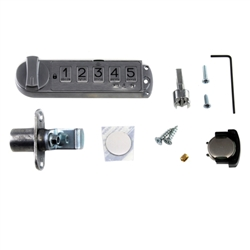 Overhead Cabinet Single Door Keyless Lock Kit, R/C