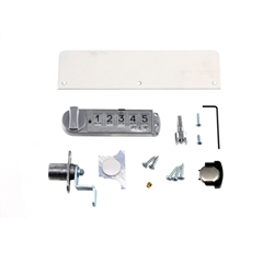 Overhead Cabinet Double Door Keyless Lock Kit, R/C