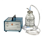 Tabletop Gastric Drainage Aspirator with 1200 ml Glass Canister