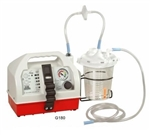 Tabletop Aspirator with One 1500mL Disposable Canister, Suction Tubing Kit, 3 Filters