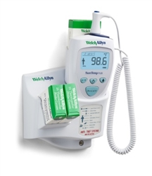 Welch Allyn SureTemp® Plus 692 Electronic Thermometer (One Room) - Rectal Probe w/ 9 ft Cord, Rectal Probe Well, Wall Mount and Security System
